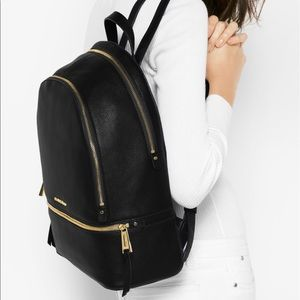 Michael lord rhea pebble leather backpack